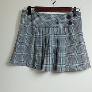 Brown & Blue Plaid Skort